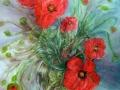 Vase aux coquelicots ( VENDU )